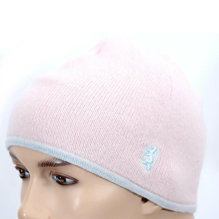 PRINGLE プリングルウール ニット帽 PLB018 ピンク ロゴマーク刺繍 キャップ 帽子【新品・未使用・正規品】売れ筋