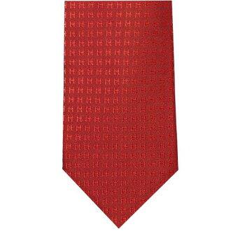 爱马仕爱马仕领带 H 提花丝织品的颜色波尔多红粉色系列 H038188T29 x