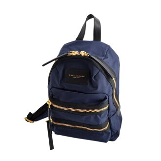 标记雅各布MARC JACOBS M0008298 415 Midnight Blue尼龙小背包帆布背包Nylon Biker Mini Backpack