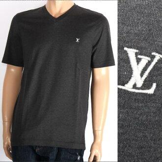 路易 · 威登路易 · 威登短袖 T 恤 999169 灰色 / 白色 LV 绣男装热卖