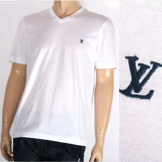 LOUIS VUITTON路易威登短袖T恤999199白×深蓝LV刺绣人畅销