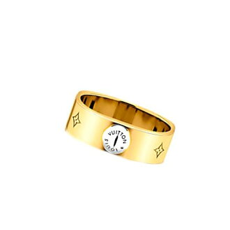 LOUIS VUITTON Louis Vuitton 2016 new ring ring M00210 yellow gold Monogram Berg Nano g LV