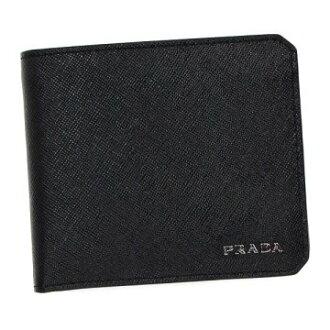 PRADA 프라다 2 MO738 QTD BK F0002 반접기 지갑 동전 지갑 코인 케이스