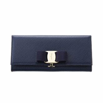FERRAGAMO Ferragamo 22B559 560813 OXFORD BLUE长钱包蓝色长钱包