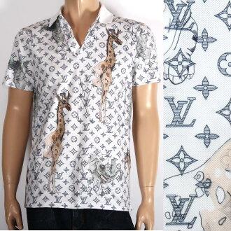 LOUIS VUITTON 루이비통 한정 반소매 폴로 셔츠 1 A2Q5 화이트 모노그램 zebra코끼리 호랑이 애니멀 체프 맨 맨즈