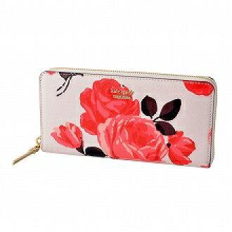 케이트 스페이드 Kate Spade PWRU5536 258 로즈 프린트 라운드 패스너장 지갑 CAMERON STREET ROSES lacey