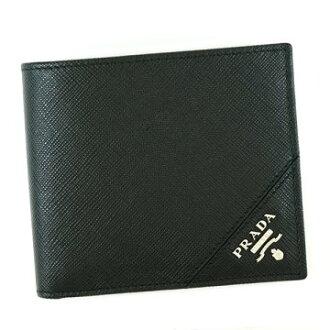 PRADA普拉达2MO738 C5S BK F0G52黑色对开钱包