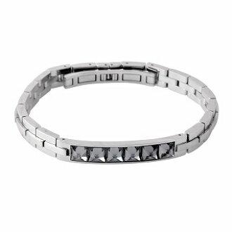 a65eaa5e8083 CUORE  Swarovski men collection SWAROVSKI 5217241 Fire dark gray crystal  bracelet