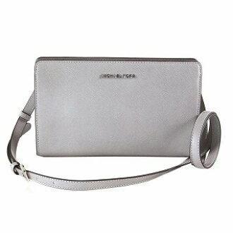 7c9cd77f2772 CUORE: Michael Kors MICHAEL KORS 32F6STVC3L Pearl Grey shoulder back clutch  bag JET SET TRAVEL | Rakuten Global Market