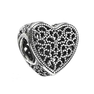 più foto b50a5 89775 PANDORA Pandora 791811 OPENWORK HEART SILVER CHARM charm