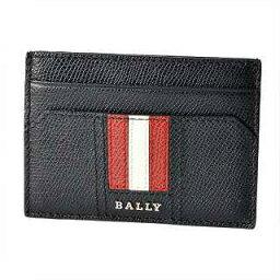 附帶巴裏BALLY TACLIPO.LT 10 6218037巴裏條紋錢環形別針的卡片匣名片夾