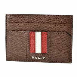 附帶巴裏BALLY TACLIPO.LT 11 6218038巴裏條紋錢環形別針的卡片匣名片夾