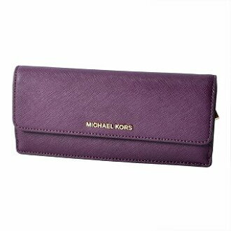 b0ab1343318d4a CUORE: Folio long wallet JET SET TRAVEL with Michael Kors MICHAEL KORS  32F3GTVE7L DAMSON back fastener coin purse | Rakuten Global Market