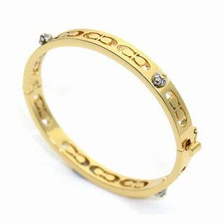 コーチ COACH 58926 Gold (GLD) デイジー リベット ピアスド キッシング C ヒンジド バングル ブレスレット【r】【新品/未使用/正規品】