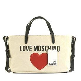 ラブモスキーノ JC4137 MOSCHINO&HEART トート WT 10Aトートバッグ【】【新品/未使用/正規品】