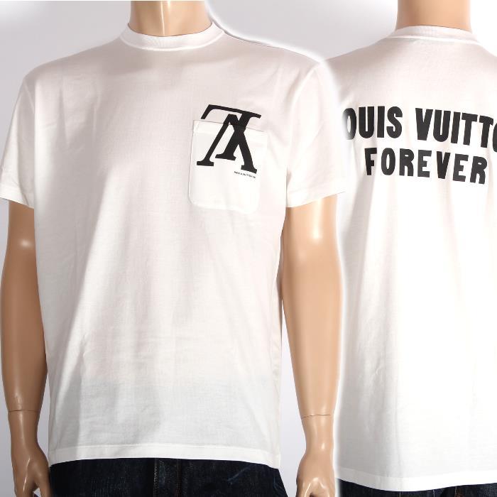 【売れ筋】LOUIS VUITTON ルイ ヴィトン 限定 アップサイドダウンLVロゴポケットTシャツ 半袖ホワイト1A46ZU【新品・未使用・正規品】
