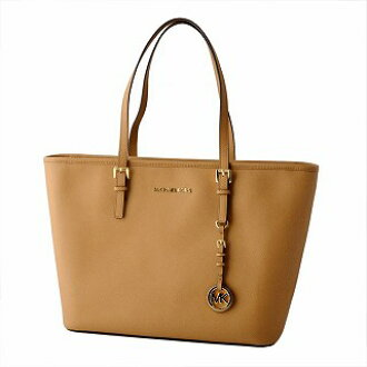 c46b573aab447a CUORE: Michael Kors MICHAEL KORS 30S4GTVT2L 532 ACORN MK charm zip tote bag  medium JET SET TRAVEL belonging to | Rakuten Global Market
