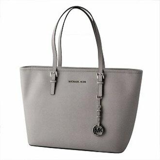 252942cb276fc4 CUORE: Michael Kors MICHAEL KORS 30S4STVT2L 081 PEARL GREY MK charm zip  tote bag medium JET SET TRAVEL belonging to | Rakuten Global Market