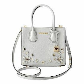 eaa51ec5a543 CUORE: Michael Kors MICHAEL KORS 30T8GM9M2Y 085 Optic White Mercer medium  flower garden 2WAY shoulder bag handbag MERCER MD   Rakuten Global Market