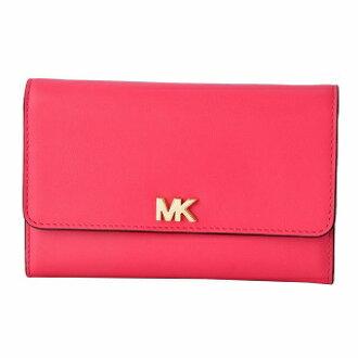 405b2c22a7fd07 CUORE: Folio long wallet with Michael Kors MICHAEL KORS 32S8GF6E2L 653 Rose  Pink MK logo pass case   Rakuten Global Market
