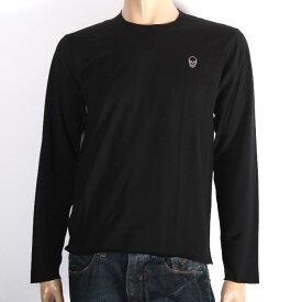LUCIEN PELLAT-FINET ルシアンペラフィネ 長袖Tシャツ ブラック EVU2051 BLACK スカル ロンT カットソー メンズ 【新品・未使用・正規品】【売れ筋】