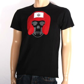 LUCIEN PELLAT-FINET ルシアンペラフィネ 半袖Tシャツ ブラック EVU2096 BLACK スカル ヘンプ 半T メンズ 【新品・未使用・正規品】【売れ筋】