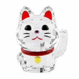 スワロフスキー SWAROVSKI 5301582 招き猫モチーフ ラッキーキャット クリスタル フィギュア 置物 Chat Porte Bonheur【r】【新品・未使用・正規品】