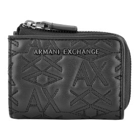 アルマーニ エクスチェンジ ARMANI EXCHANGE 948446 9A071 00020 ロゴキルティング L字ファスナー 二つ折り ミニ財布【r】【新品・未使用・正規品】