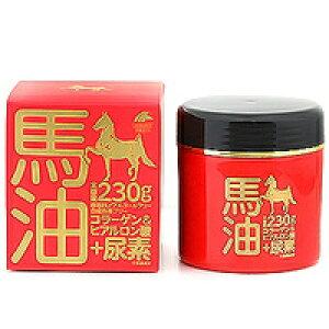 ☆ユニマットリケン 馬油クリーム+尿素 230g☆コラーゲン ヒアルロン酸 保湿