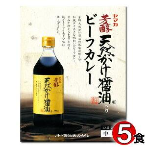 広島ご当地カレー ヤマカ 芳醇天然かけ醤油入り ビーフカレー 200g×5食まとめ買いセット