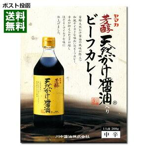 【ポスト投函送料無料】広島ご当地カレー ヤマカ 芳醇天然かけ醤油入り ビーフカレー 200g
