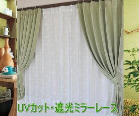 【あす楽】【送料無料】ミラーレースカーテンUVカットおしゃれ可愛い薔薇日本製【サークル・ミーシャ・ローズ】