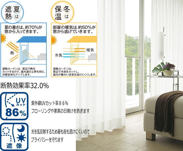 【あす楽】遮熱・遮光・形状記憶・透けないミラーレースカーテン省エネUVカット日焼け防止対策【Nガード】日本製