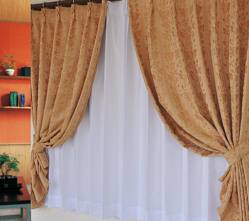 【防炎カーテン】形状記憶 ドレープカーテン デザイン柄日本製【レジーナ・メゾン】