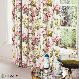 ディズニーカーテン 遮光 アジサイ ALICE(アリス) アリス 不思議の国のアリス Disney disney オーダー かわいい おしゃれ 形状記憶加工 アンティーク 英国 花柄