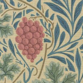 英国カーテン ウィリアム・モリス William Morris ヴァイン オーダーカーテン 英国ブランドカーテン イギリス 葡萄 ぶどう ボタニカル 葉っぱ ヴィンテージ おしゃれ 綿100% 天然素材 エレガンス アンティーク ベージュ