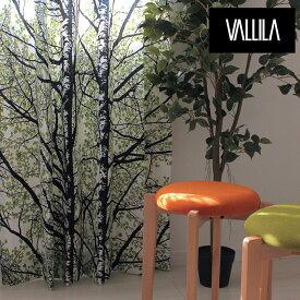 北欧カーテン VALLILA ヴァリラ ピハプート PIHAPUUT オーダーカーテン 北欧ブランドカーテン 森 白樺 林 自然 葉っぱ柄 リーフ ボタニカル 風景 フィンランド 緑 おしゃれ バリラ