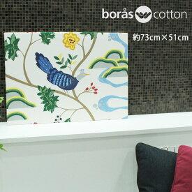 ファブリックパネル ボラス 北欧 バードランド borascotton birdland 約73×51cm おしゃれ かわいい ファブリックボード ウォールパネル 生地 ギフト ホワイト ブラック 鳥 ボロス 玄関 リビング