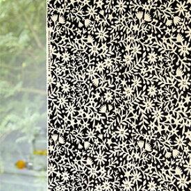 【北欧カーテン】岡理恵子 北欧 北欧ブランドカーテンキリエコバナ おかりえこ オーダー かわいい おしゃれ 花柄 小花柄 ブラック イエロー ブラウン クォーターリポート QUARTER REPORT