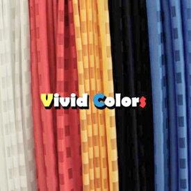 レースカーテン ビビット オーダー カラー ホワイト イエロー ブルー レッド ブラック 白 黄色 青 赤 黒 チェック柄 おしゃれ かわいい ポップ 子供部屋 リビング 格子柄