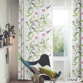 ディズニーカーテン 遮光 ワイルドフラワー MICKEY(ミッキー) ミッキーマウス Disney disney オーダー かわいい おしゃれ形状記憶加工 花柄