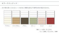 ハニカムシェード彩/レース+プレーンタイプ/ツイン/カラー