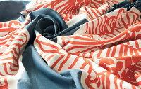 送料無料洗える遮光色青オレンジベージュ柄フラワー花柄カーテンオーダーカーテンオーダーメイドカーテンカフェカーテン間仕切りサイズ幅200幅150120200230北欧幅出窓生地V-1245-1246スミノエデザインライフDAIRIN日本製