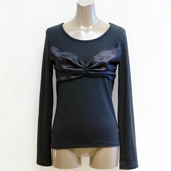 [2015秋冬セール商品60%OFF]CHUBBY GANG サテンリボンデザインロングTシャツ(150cm)【セール商品のため代引き対象外】