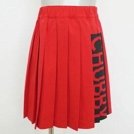 [2016秋冬セール商品50%OFF]CHUBBY GANG ボックスロゴプリーツスカート (110-120cm)【セール商品のため代引き対象外】