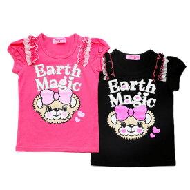 [2019夏セール商品30%OFF]EARTH MAGIC マフィーフェイスプリント 半袖 Tシャツ【セール商品のため代引き対象外】【合計10,800円(税込)以上お買い上げで送料無料】