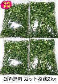 カットねぎ2kg(500g×4袋)ネギ 葱 薬味 送料無料 徳島県産 自社産 産地直送 冷蔵便