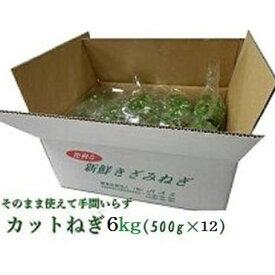 カットねぎ6kg (500g×12)業務用徳島県産