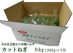 カットねぎ8kg (500g×16)徳島県産業務用