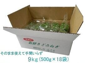 カットねぎ9kg (500g×18)徳島県産業務用